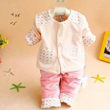 洋气新生儿保暖衣服初生婴儿套装宝宝外出服天鹅绒纯棉外套春秋装