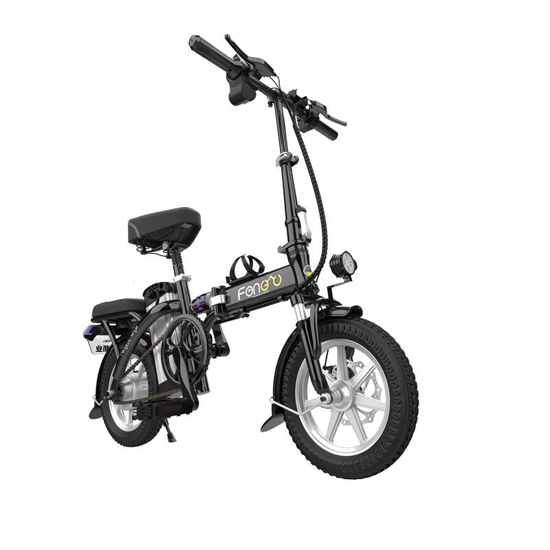 14寸折叠电动自行车便携式电瓶车小型代步车代驾宝成人轻便电单车