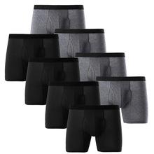欧美大码男士内裤 纯棉长款开口运动沙滩裤纯色男内裤厂家直销