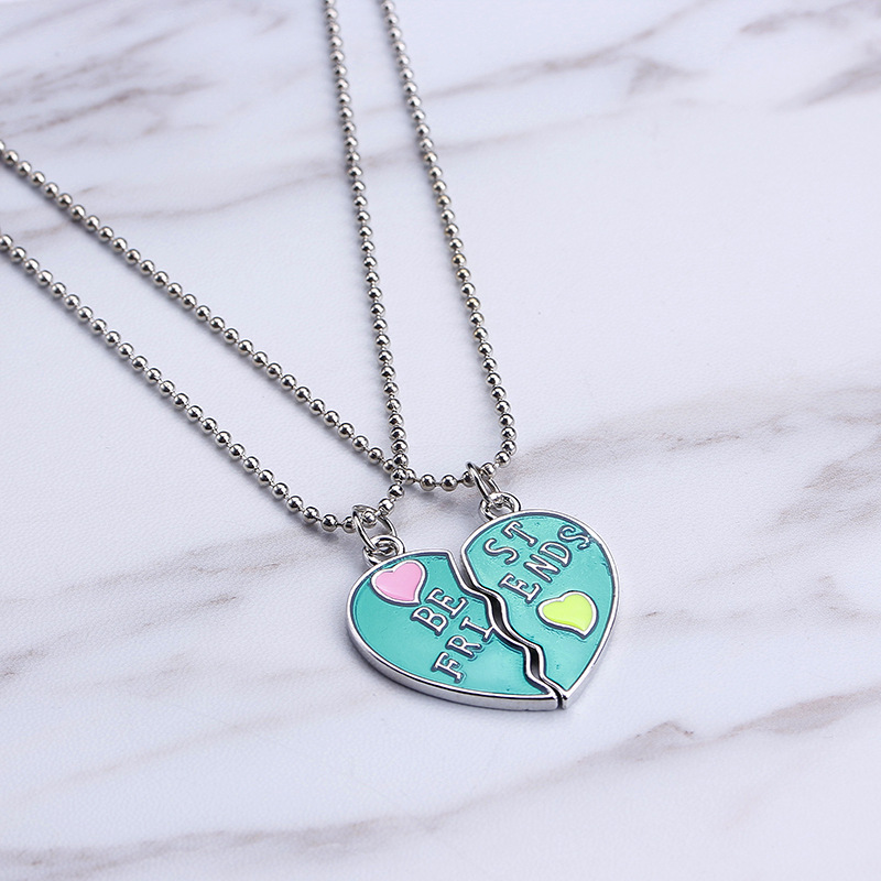 Best-selling fashion Best Friends love good friends stitching lettering necklace accessories NHMO207976