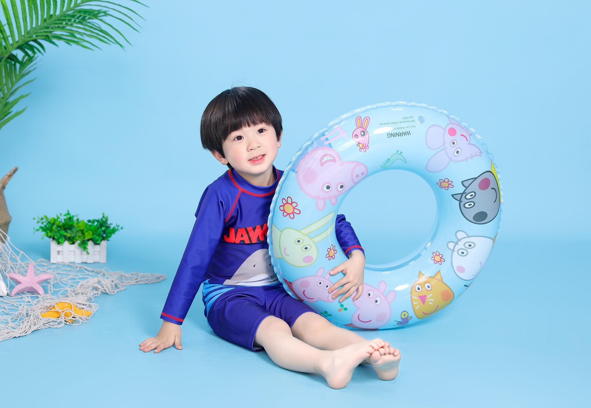 Stylish and simple PVC Pegasus swim ring NHWW149790
