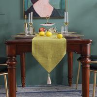 Китайский стиль, сплошной цвет, бытовой, с кисточкой, кровать, флаг, стол, полотенце, хлопковое и льняное, толстое, дзен, чайный стол, флаг, поставка для внешней торговли