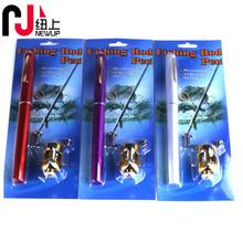 20CM迷你釣竿可伸縮迷你小魚桿 輕便式鋼筆魚竿漁具套裝
