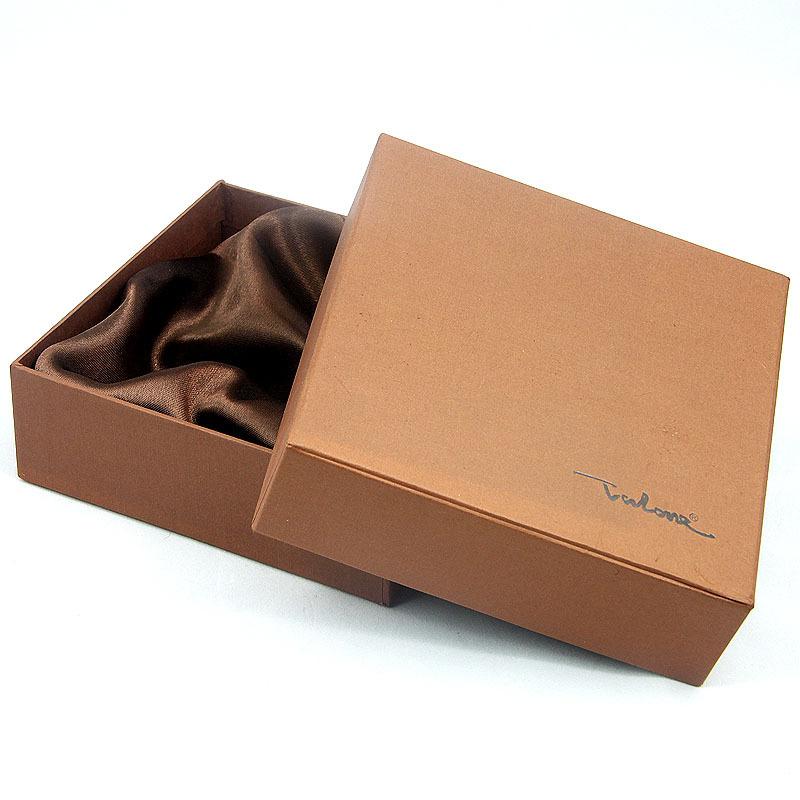 定制正方形牛皮纸天地盖礼盒时尚简约领带领结包装盒可印刷logo