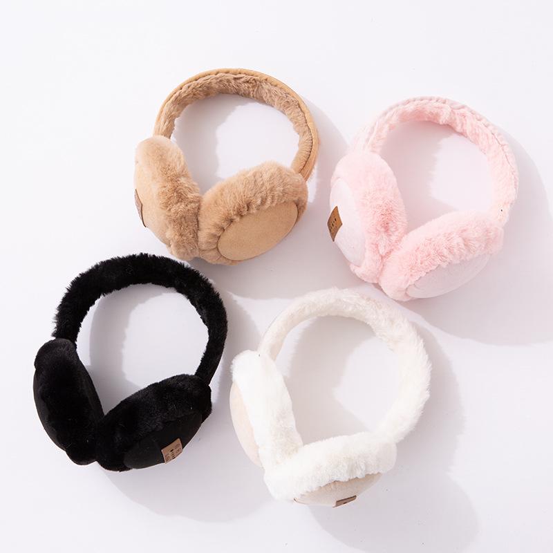 毛绒蓝牙耳机儿童头戴式耳罩耳机冬天保暖卡通可爱手机耳机批发