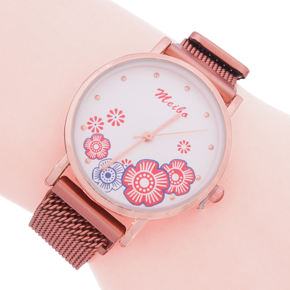 Suction Stone Watch Korean Ethnic Style Female Quartz Watch With Watch Spot Wholesale NHMM202172