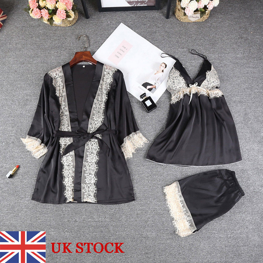 Three Piece Silk Lace European And American Lingerie