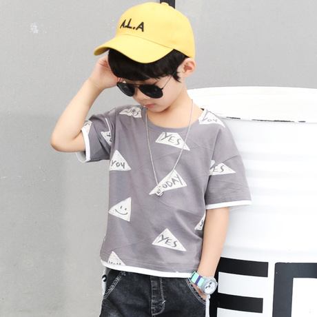 Bộ đồ trẻ em mùa hè mới to boy phiên bản Hàn Quốc của bé trai hai mảnh giản dị Bộ đồ trẻ em