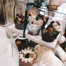 2粒4粒6粒透明杯子蛋糕包装盒diy烘焙马?#19994;?#31957;纸杯盒子玛?#19968;?#28976;杯