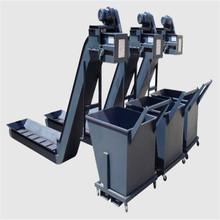 數控機床鏈板排屑機不銹鋼方鋼鏈條蛟龍螺旋桿磁性刮板廢料排屑機
