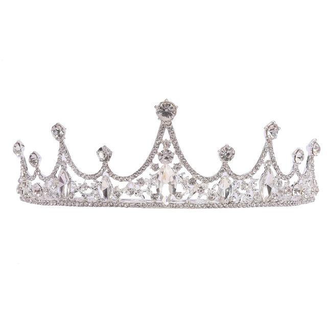 2019新款新娘皇冠巴洛克水晶俏丽皇冠 新娘结婚头饰 精美公主头圈