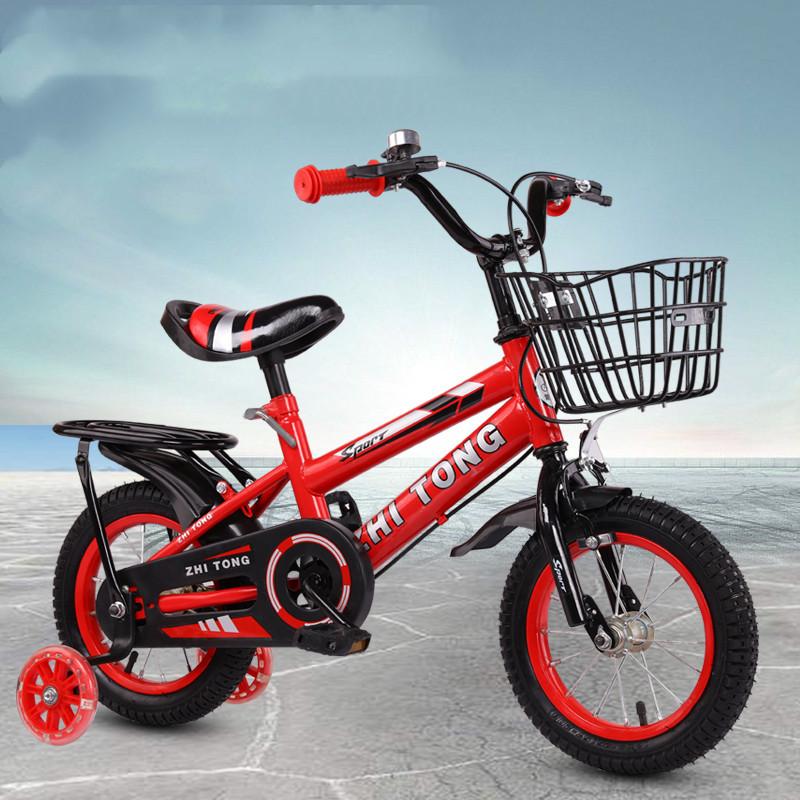 儿童自行车3岁男女宝宝脚踏车2-4-6岁童车12-14-16寸小孩单车