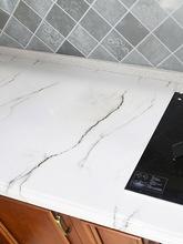 加厚厨房卫生间仿大理石墙纸墙贴纸防油防水自粘瓷砖橱柜灶台面用