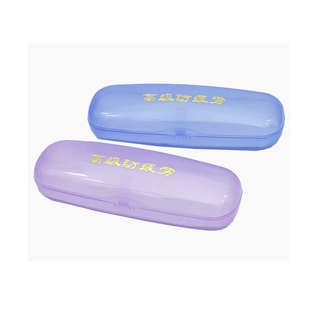 Kính nhựa PVC hộp bán buôn Màu đỏ xanh tím nhiều màu kính đọc sách kính đặc biệt hộp Vỏ kính