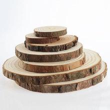 原木片年輪diy木頭片圓木片 裝飾背景墻小圓實木片材料手工手繪畫
