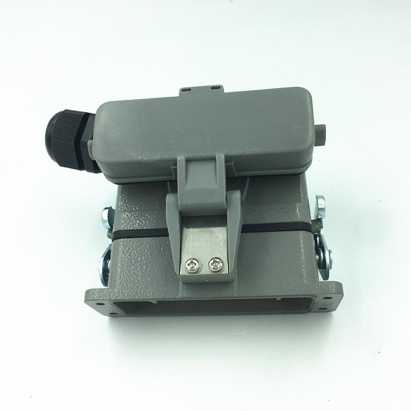 重载连接器小16芯 防水矩形插头 HDC-HA-016-2DB/1DB热流道接插件