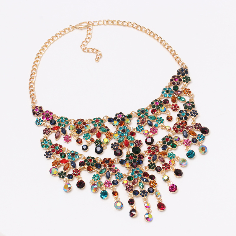 Womens other rhinestonestudded alloy Necklaces NHJJ127793