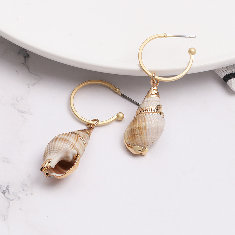 Womens Shell Seashell Earrings JJ190410116609
