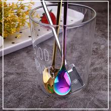 304不銹鋼冰勺創意酒吧攪拌勺網紅抖音款咖啡勺鍍鈦現貨專供跨境