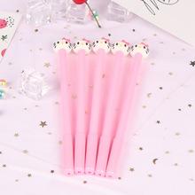 厂家直销创意可爱卡通粉色kt猫?#34892;?#31508;KT黑色签字笔女学生考试水笔