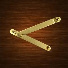 纯黄铜樟木箱支撑中式装修仿古箱柜铜活配件支架箱撑首饰盒特价