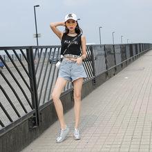 韩版百搭破洞毛边牛仔短裤夏季新款女个性时尚宽松阔?#28909;?#35044;子女装