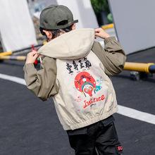 男童外套2019秋季新款儿童中大童风衣街头潮范运动休闲外套上衣