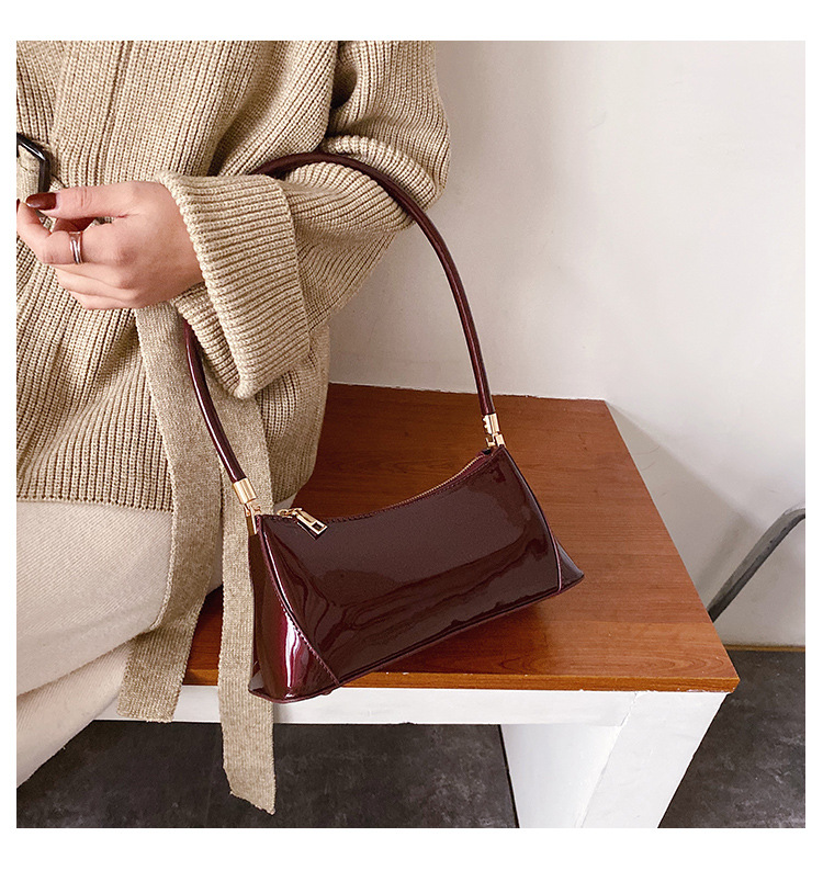 Women's new Korean shoulder bag fashion solid color shiny portable small square bag NHXC192242