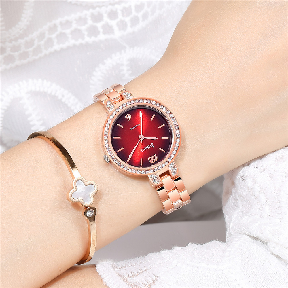 Women's wrist watch fashion steel belt quartz watch sun pattern diamond ladies bracelet watch wholesale nihaojewelry NHSS220618