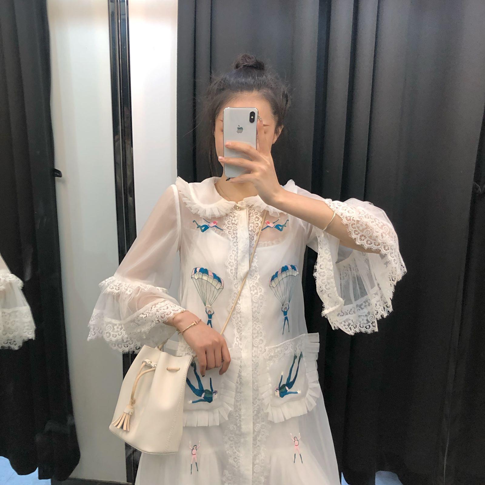 很仙的连衣裙夏款网纱法式桔梗裙维多利亚少女森系学生气质仙女裙