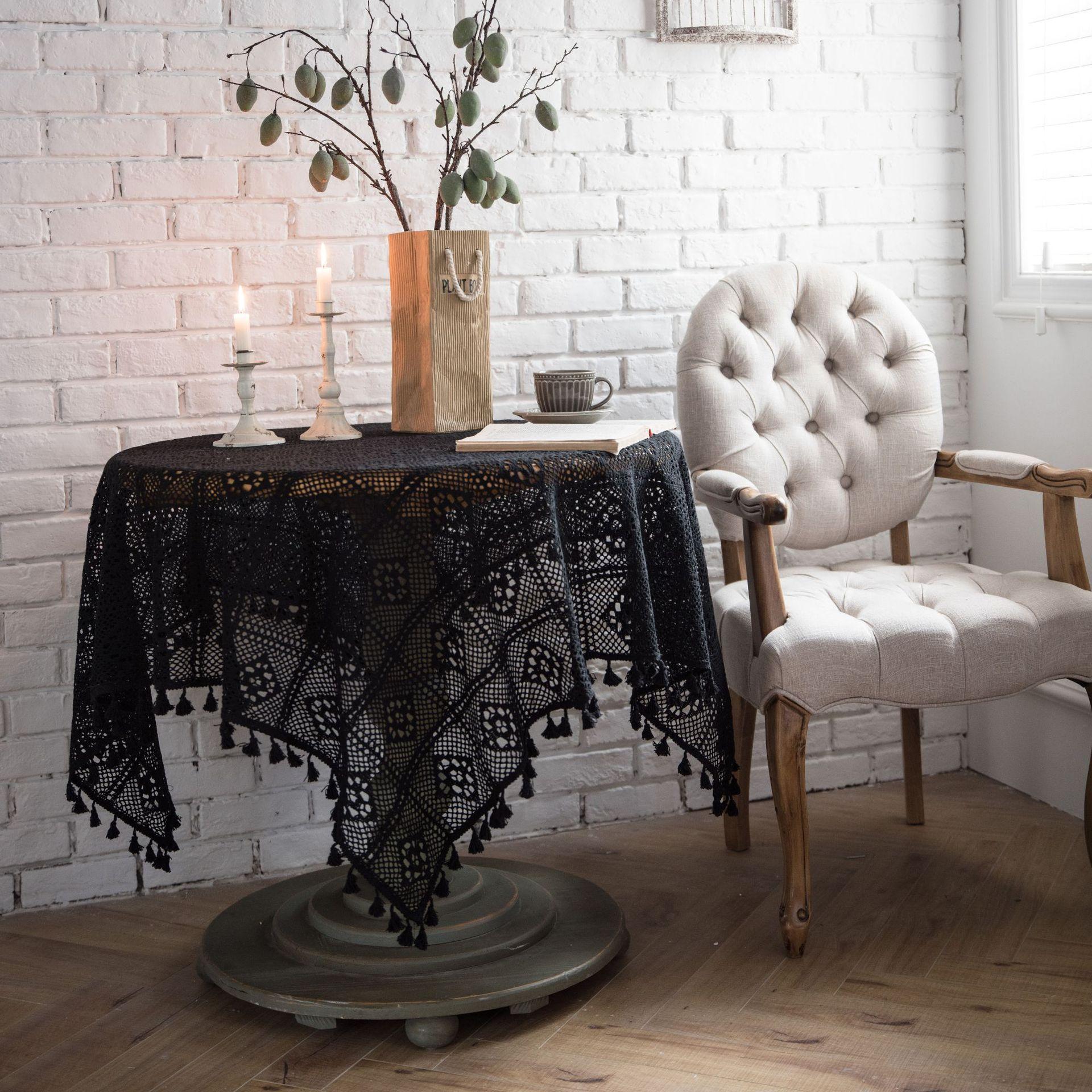 الرعوية اليدوية الكروشيه غطاء منشفة القطن مفرش المائدة مفرش المائدة مفرش المائدة مفرش المائدة مفرش البيانو الدعائم اطلاق النار
