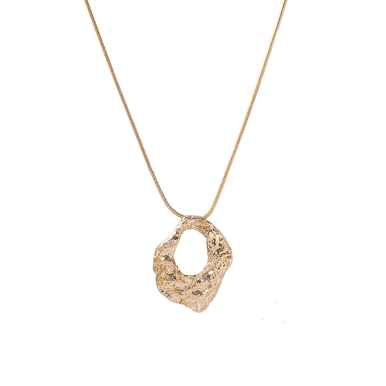 Fashion New Snake Chain Pendant Necklace Geometric Bump Design Alloy Sweater Chain Wholesale NHQS205785