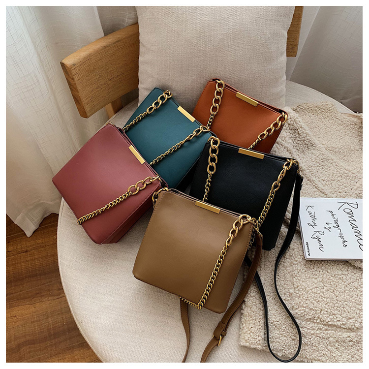 New small bag female 2019 new autumn and winter fashion Korean version of the chain shoulder bag foreign gas slanting small square bag NHTC170496