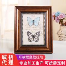 热销欧式复古相框家用装饰工艺品摆件照片墙装裱画框定制批发