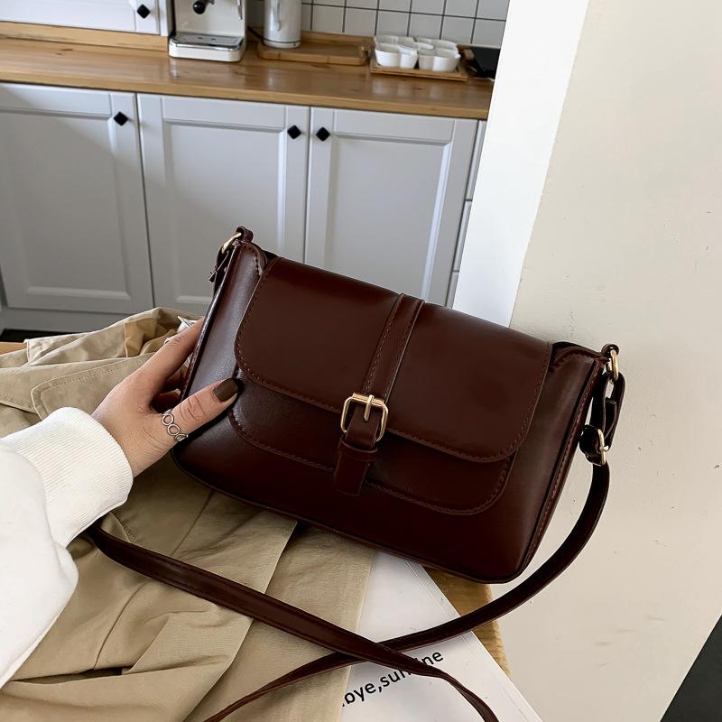 Small Bag Instagram Fashion Retro All-match Small Square Bag Autumn and Winter One-shoulder Messenger Bag