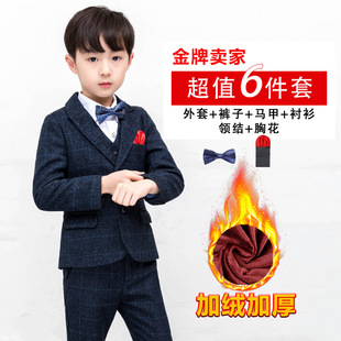 2020 spring and autumn children's small suit suit boy new year's day performance dress wholesale wedding flower girl one drop delivery