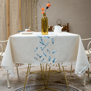 Tablecloth table cloth table cover Leaf tassel lace art table waterproof, oil proof and washable, can be customized