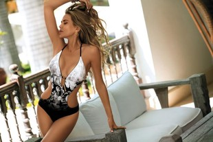 Cross-border European and American foreign trade new style sexy one-piece printed swimsuit bikini