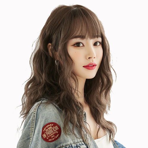 Wavy Hair Wigs Japanese wool curly wig, female long hair, natural fluffy full head cover, customized whole head cover