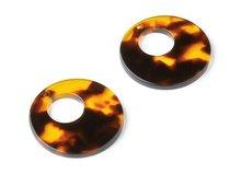 圆形醋酸韩国耳钉耳环吊坠饰品材料包31.7x31.7x2.64mm -CD1359T