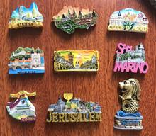 世界旅游維也納法國德國布拉格韓國新加坡樹脂浮雕冰箱貼磁貼擺件