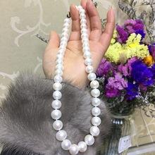 珍珠项链 批发 母亲节礼物 S925银扣10mm近圆tian 然淡水珍珠项链 净链妈妈链
