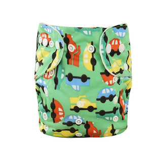 New product in 19 years baby cloth diaper multi-row press button printed diaper pockets baby breathable adjustable diaper pants
