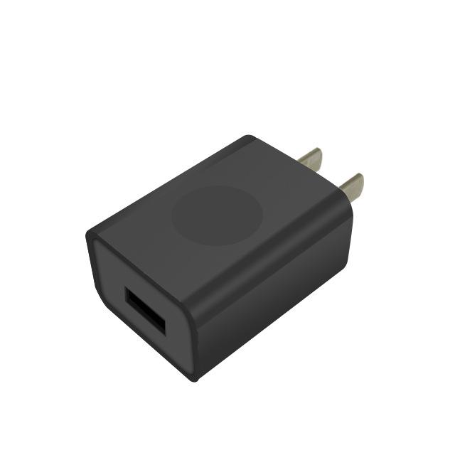 5V1A黑色USB手机充电器