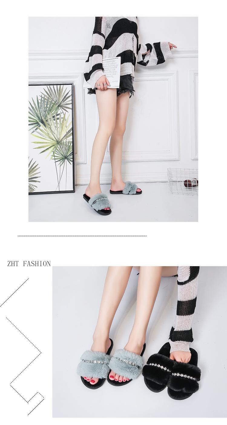 women's new thick velvet slippers NSPE10015