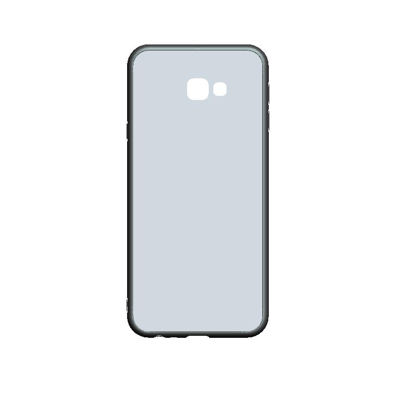 三星j4plus二合一硬底软边凹槽手机壳素材亚克力滴胶凹槽手机壳