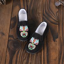 表演童鞋耐磨民族10歲男童綉花鞋 中國風新款軟底5歲4歲六一古裝