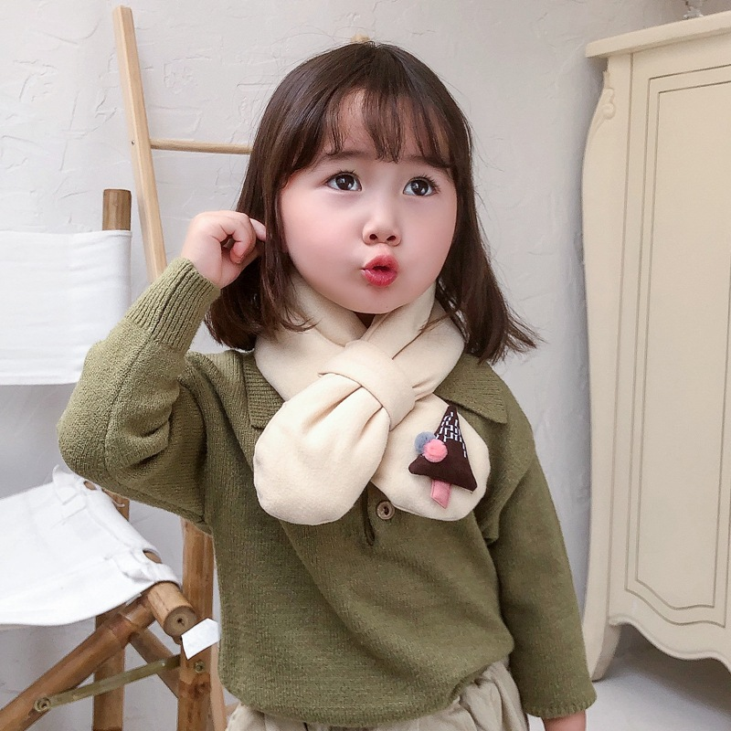 Cute quilted plush baby warm scarf NHTZ154913