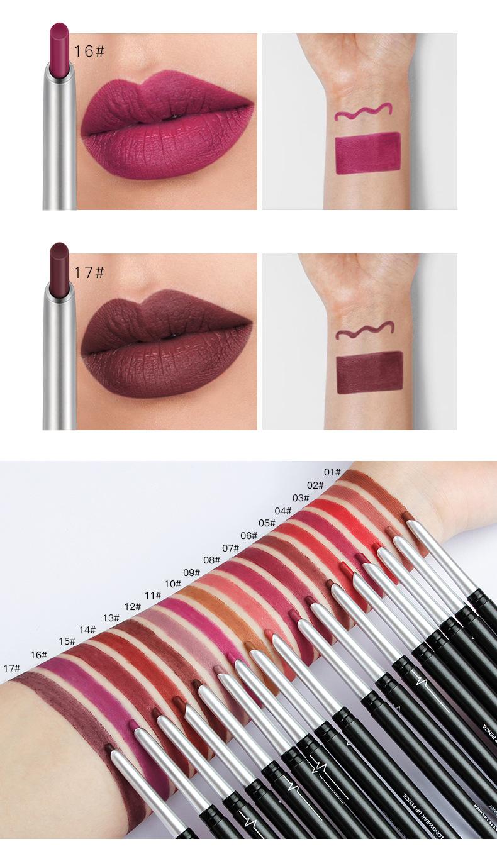lip liner non-marking eye shadow eyeliner lipstick