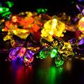 20灯太阳能LED蝴蝶灯串防水户外圣诞节庭院花园婚庆布置装饰彩灯